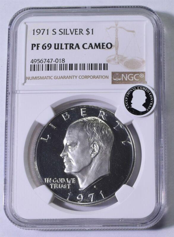 1971-S Eisenhower Dollar - NGC PF69 Ultra Cameo