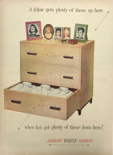Arrow Shirt Clothing Men Magazine Print Ad Vintage Furniture Fashion Original