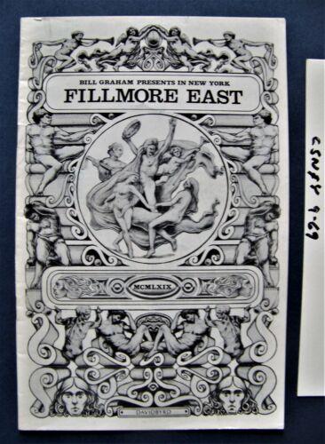 Sept 1969 ~ Fillmore East (NYC)  Concert Program ~ Crosby, Stills, Nash & Young