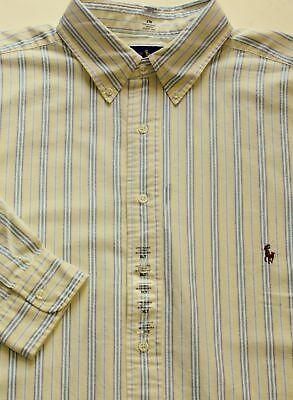 Big Pony Oxford (Ralph Lauren Polo Pony Striped Oxford Long Sleeves Classic Dress Shirt Big Tall )