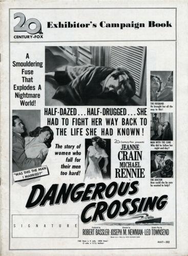 DANGEROUS CROSSING (1953) • Jeanne Crain, Michael Rennie • Uncut,  20th Cent Fox