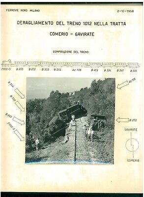 FERROVIE NORD MILANO INCIDENTE DISASTRO FERROVIARIO 2 OTTOBRE 1958 IGNIS TRENI