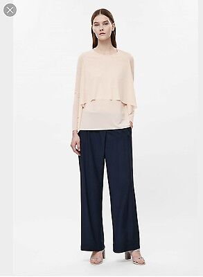 Cos Layered Long Sleeve Top Size S