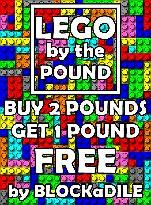 1 Pound of Lego by the lb ( Bricks, Tiles, Blocks ) BUY 2 lbs get 1 FREE