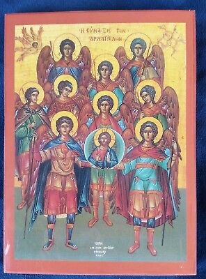 EASTERN ORTHODOX ICON SYNAXIS OF HOKY  ARCANGELS for sale  Shipping to Canada