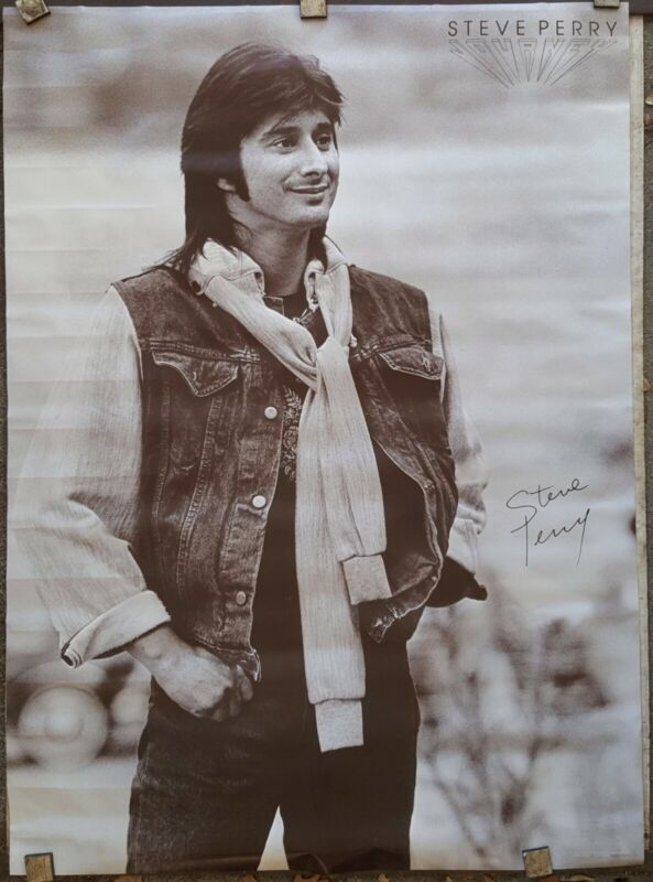 Steve Perry Journey 1983 ORIGINAL NEW / poster unused approx 24 x 30