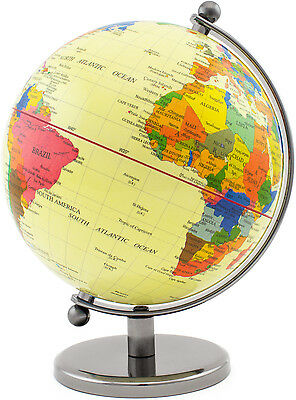 BRUBAKER Pale World Globe Vintage-inspired Design Stainless Steel 7.5 inches tal