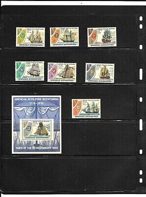 Grenada Grenadines 1976 Ships of the Revolution set + min sheet MNH