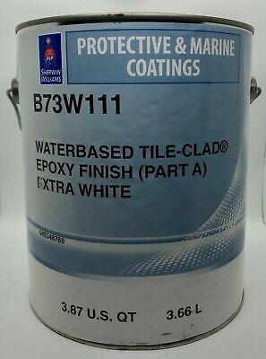 Sherwin Williams Waterbased Tile-clad Epoxy Finish A Extra White Gallon