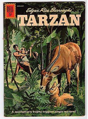 Dell Edgar Rice Burroughs TARZAN #127 - 1961 Vintage Comic