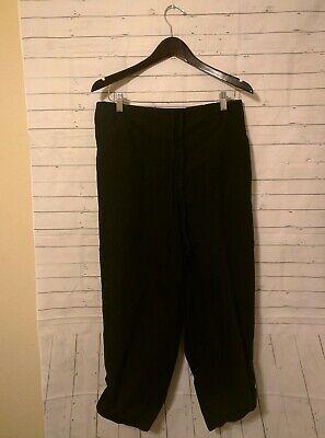 Women's Cherokee Solid Black Drawstring Pull-On Rolled Capri Pants, Plus Sz 16W Cherokee Cherokee Drawstring Pull