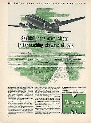 1951 Monsanto Skydrol Ad Philippine Air Lines Pal Douglas Dc 6B Aviation Airline