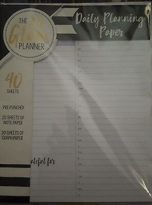 The All Glam 40 Sheets Daily Pages Refill Graph Note Paper 1 Folder