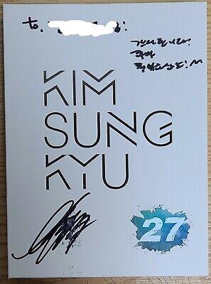 KIM SUNG KYU INFINITE 27 2ND MINI K-POP REAL SIGNED AUTOGRAPHED PROMO CD