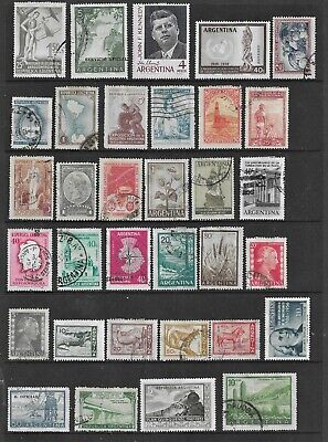 HICK GIRL- USED ARGENTINA STAMPS    VARIOUS ISSUES    T252