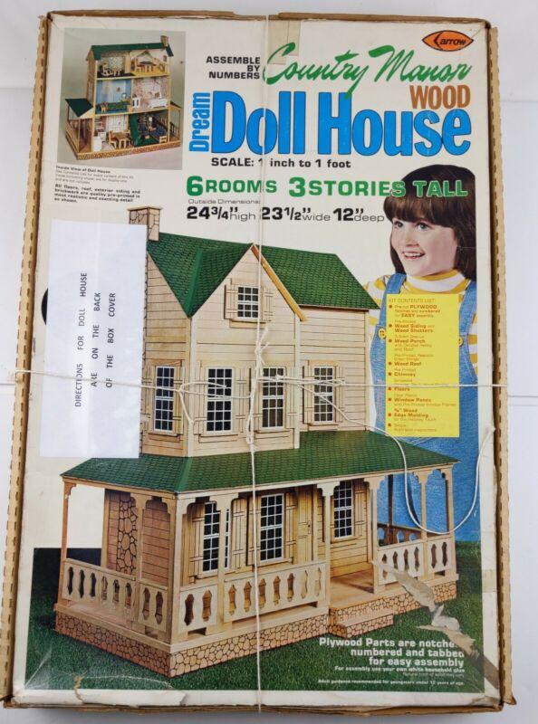 "Arrow Country Manor Wood Dream Dollhouse KIT 703 UNUSED 1""-1"