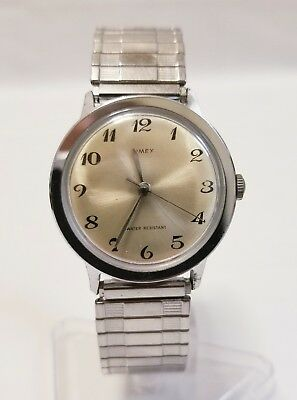 Vintage 1971 Timex Marlin Mechanical Men's Watch - Working