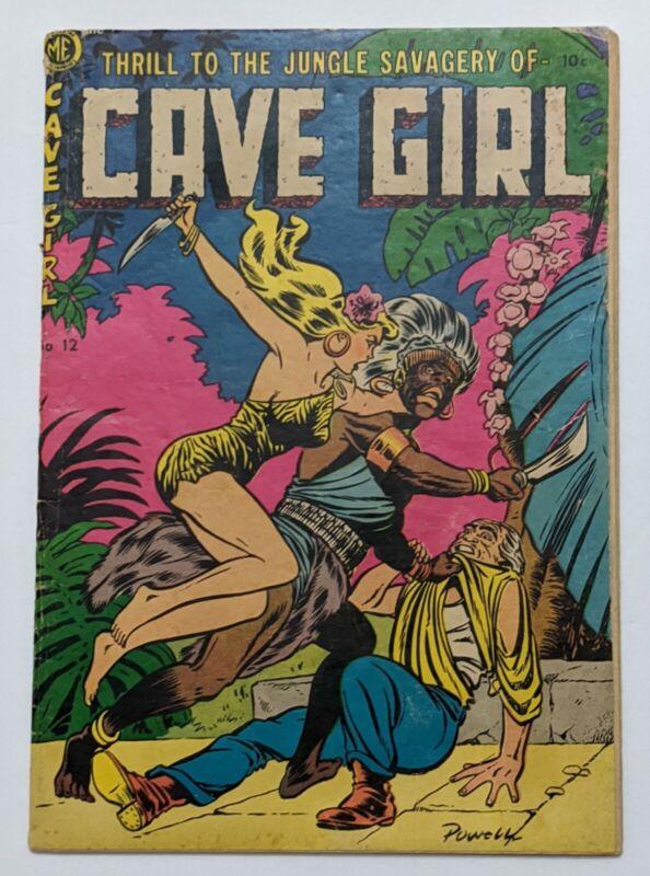 Cave Girl #12 (1953, Magazine Enterprises) Bob Powell Good Girl Cover - Jungle