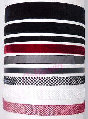 Black Red White Velvet Choker Ribbon Necklace Gothic Handmade Retro Fishnet Thin](Ribbon Necklaces)