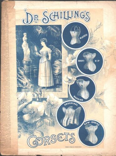 A Golden Picture of Home 1885 Dr Schilling CORSETS Advertising Sheet Music!