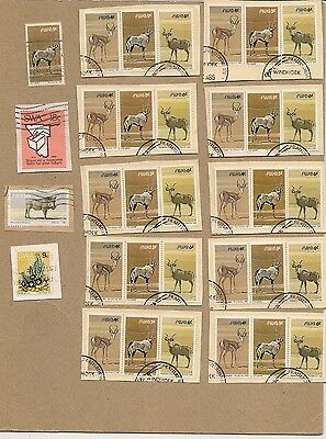 Lot Of  54   South West Africa Stamps  Swa        Used  On Paper