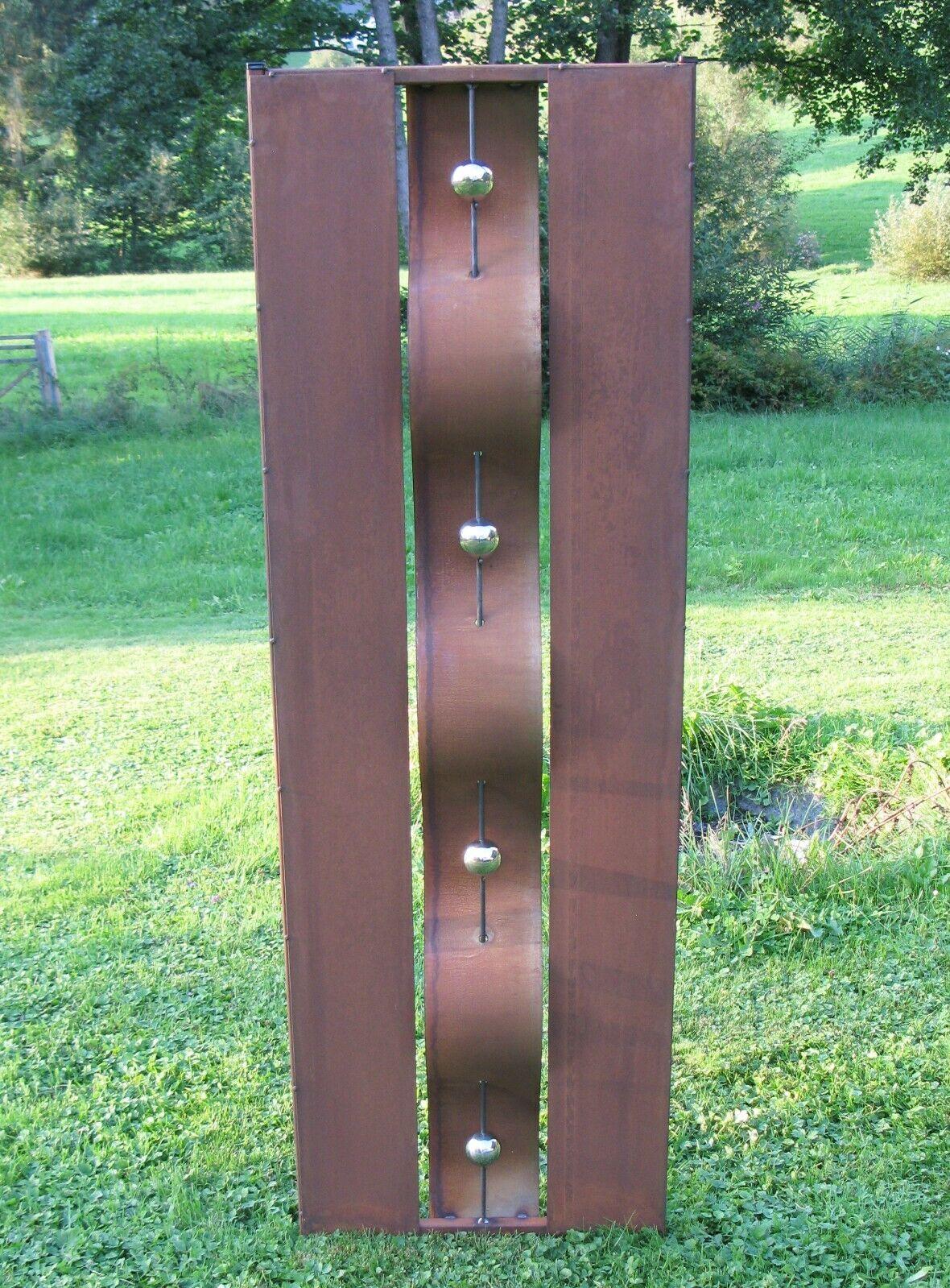 Sichtschutz Wand Edelrost Edelstahl Rost 50 X 155 Cm