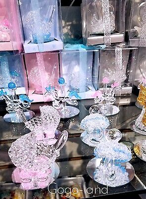 12 Crystal Carriage Carousel Pacifier Baby Shower Party Favors Crystal Baby Pacifier