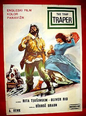 TRAP 1966 SIDNEY HAYERS RITA TUSHINGHAM OLIVER REED SEVENOAKS EXYU MOVIE POSTER