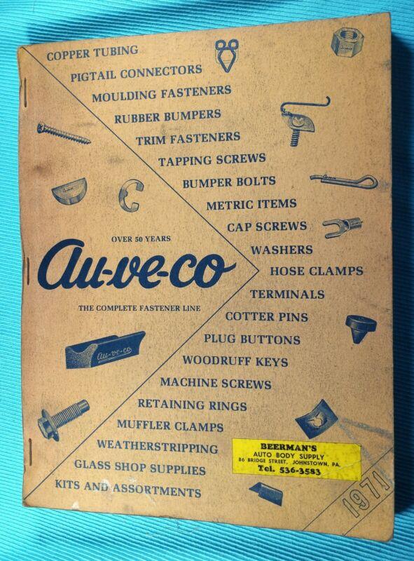 Vintage 1971 AU-VE-CO AUVECO Fasteners Catalog * Screws Bolts Pins Keys Clamps +