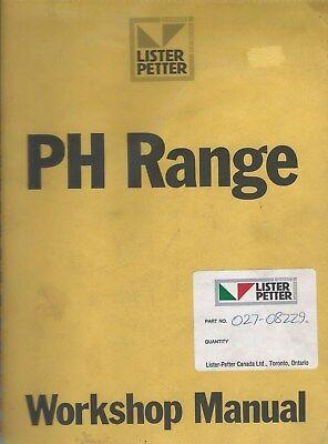 Equipment Manual - Lister Petter - Ph Range Workshop Engine Repair E3906