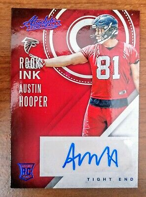2016 Absolute Austin Hooper Rook Ink Rookie Auto No. 6 Atlanta Falcons