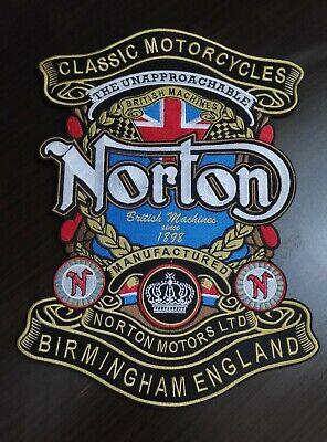 MOTORCYCLE Aluminum ENGLAND Flag shield Emblem TRIUMPH NORTON  Self Adhesive