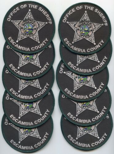 ESCAMBIA COUNTY FLORIDA patch lot 10 police patches ROUND SHERIFF POLICE PATCH