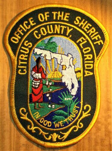GEMSCO NOS Vintage Patch SHERIFF OFFICE CITRUS COUNTY FL - 25+ year old v4