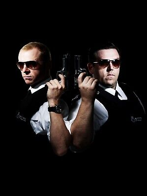 """HOT FUZZ 16"""" x 12"""" Photo Repro Textless Poster"""