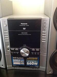 Panasonic 5 channel stereo midi. 5 disk changer. Plays movie DVD's. Green Point Great Lakes Area Preview