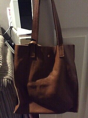Isabella Rhea Cognac Leather Tote New With Tags And Dust Bag Rrp £198