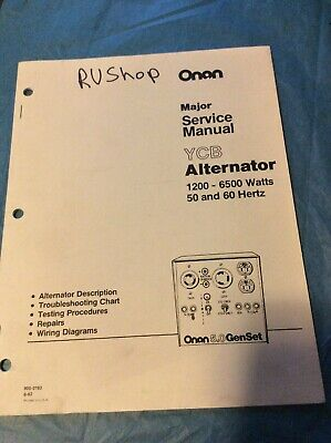 Onan Ycb Alternator Service Manual 900-0193 Book Guide Shop Book 5.0 Genset