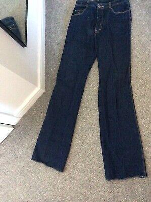 New Vintage Jordache Dark Blue Denim Jeans 33 Long Straight Leg Trousers