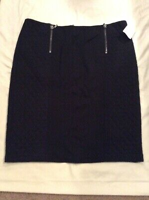 J. Mclaughlin Black Quilted A- Line Skirt, Size 10