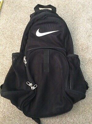Nike Mesh Backpack Rucksack V G C Black
