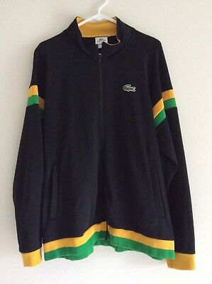 Lacoste Track Jacket XL 7 Black Green Yellow
