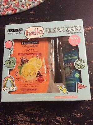 Freeman Hello Clear Skin Mask & Applicator Gift Set  Freeman Skin Mask
