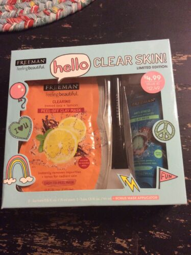 Freeman Hello Clear Skin Mask & Applicator Gift Set