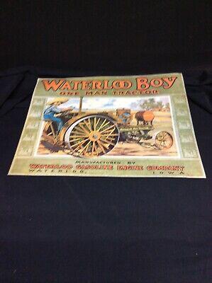 Waterloo Boy One Man Tractor Waterloo Gasoline Engine Co Waterloo Iowa Poster
