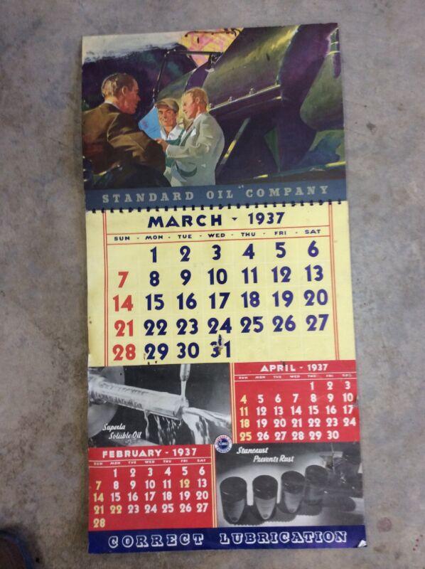 1937 Standard Oil Calendar