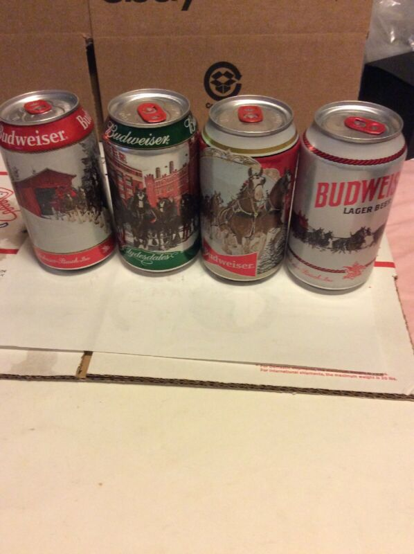 12 oz Budweiser Happy Holidays Empty BEER CAN Limited Stein Clydesdales 2019