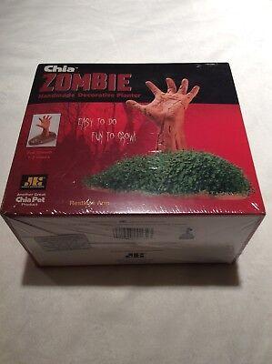 Zombie Chia Pet Handmade Decorative Planter Restless Arm Undead Halloween NIB - Chia Pet Halloween