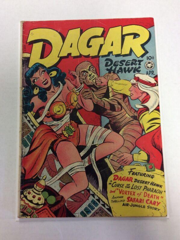 Dagar Desert Hawk Comics #15 FOX April 1948 Good Girl GGA Breaking Bondage