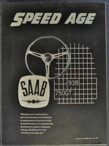 1959 Saab Road Test Brochure 93B Sedan 750GT Monte Carlo Excellent Original 59